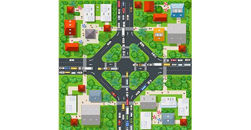 Оптимальное расположение машин в городе